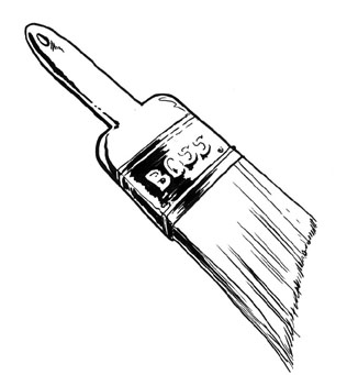 Handyman clipart paintbrush