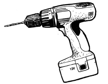 Handyman clipart powerdrill